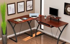 Mainstays L Shaped Desk With Hutch by Wooden L Shaped Gaming Desk Best Home Furniture Design