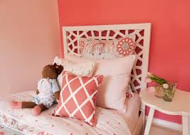 Coral Colored Decorative Accents by Coral Accent Wall Design Ideas