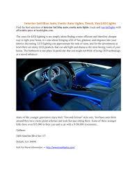 100 Interior Truck Lighting PPT Led Blue Auto Exotic Auto Lights Van