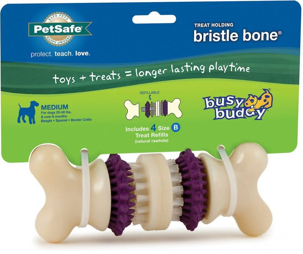 PetSafe Busy Buddy Bristle Bone Dog Toy - Medium