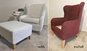 Oversized Wingback Chair Slipcovers by Accessories Arm Chair Slip Covers With Regard To Good Decor Amp