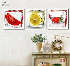 3 Piece Modern Wall Canvas Painting Home Decor Ice Fruit Kitchen Decoration Art Pictures Paintings For Dinning Room Cupboard In Calligraphy From