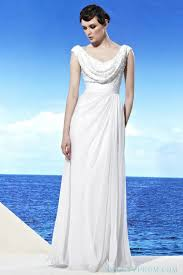 full length white chiffon sequin cowl neck evening dresses long