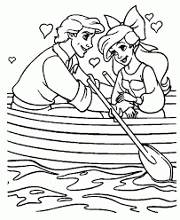 Little Mermaid Coloring Pages Ariel Loves Eric
