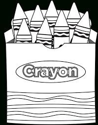Coloring Page Crayons Printable Crayon Box Crayola With