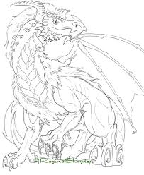 Print Coloring Pages For Adults Dragon