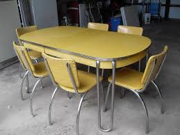 Wonderful Yellow Retro Kitchen Table And Chairs 18 For Interior Decor Home With