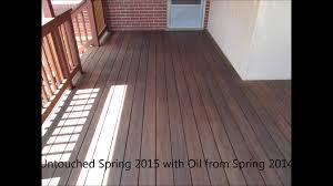 Cumaru Hardwood Flooring Canada by Cumaru Decking 2014 Oiled Vs 2015 Aged Youtube