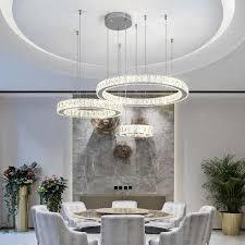 kristall ring 3 4 ring led kronleuchter wohnzimmer esszimmer studie schlafzimmer kronleuchter kommerziellen einrichtungen dekorative len