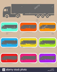 Icon Trucks With Refrigerator Stock Photo: 80100921 - Alamy