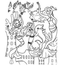 Barbie In A Mermaid Tale Love Flowers Coloring Pages