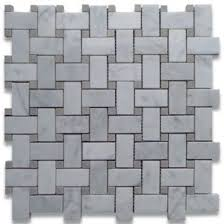 carrara tile marble bianco basketweave polished mosaic tile
