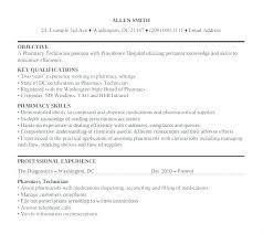 Pharmacy Tech Resume Sample Technician Examples