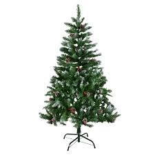 Fibre Optic Christmas Trees Sale Black 6ft by 4ft 5ft 6ft 7ft Green Artificial Christmas Xmas Tree Snow Berries
