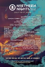 Northern Nights Music Festival 2016 Phase 2 Lineup Announced