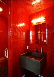 Bright Red Bathroom Rugs by Bathroom Appealing Add Warmth Your House Ideas From These Red