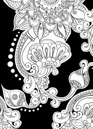 Creative Haven Magical Mehndi Designs Coloring Book Striking Patterns On A Dramatic Black Background Welcome To Dover Publications