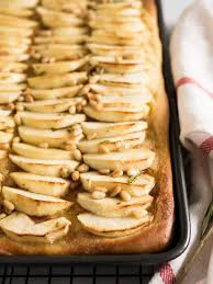 Apple Cake Recipe with Cinnamon Butter and Pine Nuts
