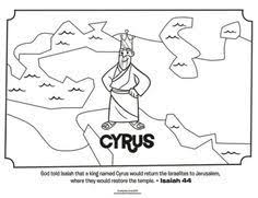 Kids Coloring Page From Whats In The Bible Featuring King Cyrus Isaiah 44