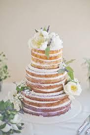 Lavender Infused Naked Cake For Wedding