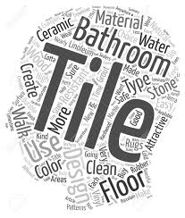 badezimmer fliesen design material typen für badezimmer fliese entwirft texthintergrund wordcloud konzept