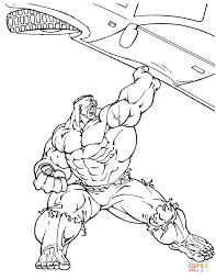 Hulk Is Lifting A Car