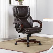 BELLEZE Executive Office Desk Chair Seats W/Adjustable Lumbar Support Back  Swivel Tilt Wood Arm Base, Faux Brown Leather 90 Off Blue Upholstered Office Chair Chairs Heydon Fully Upholstered Office Chair No Arms Jk Fniture Baldridge Swivel Desk Bernie Phyls Wicker Midback Walnut Wood Conference In Black Leather Homestead Lacquered Lorry Modern Classic Beige Cedar Armrest Amazoncom Bankers With Arms Adjustable Height Mentor Office Chair Nuans Smudge Buckeye Rockers Deck With Solid Art Inc Contemporary Casters