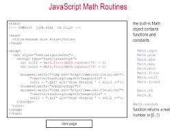 Javascript Math Ceil 0 by Comp519 Web Programming Autumn 2012 Client Side Programming With