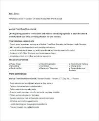 Medical Spa Receptionist Resume Sample Secretary U2013 Stanmartin
