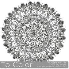 Intricate Printable Coloring Pages For Adults Gel Pens Mandala Pattern PDF JPG