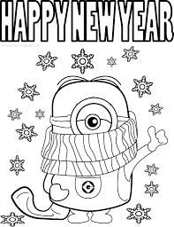 Funny Minions Quotes Picture Cold Weather Happy Year Coloring Pages New 2016 To Print 2015 Printable Preschool