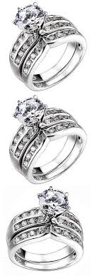 Rings 1 55 Ct Princess Cut Cz Solid 925 Sterling Silver