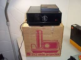 vintage gaf 2680 slide projector with original box and bulb