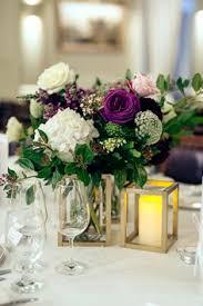 Copper Flower Stands Unstructured bouquet Wedding florals