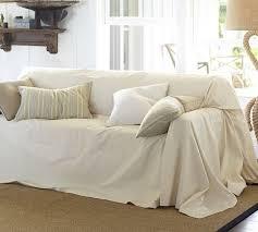 Pottery Barn Charleston Sofa Slipcovers by Sofa Covers Pottery Barn Dropcloth Loose Fit Slipcover Twill
