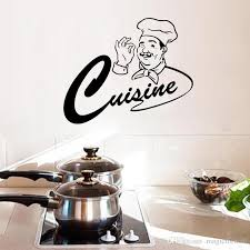 Chef Decor For Kitchen by Happy Master Chef Kitchen Room Wall Stickers Home Decor Cuisine