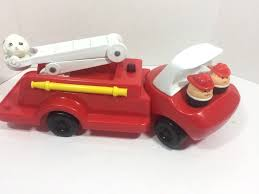 100 Fisher Price Fire Truck Ride On Vintage 90s Little Tikes Toddle Tots W 2 Chunky People