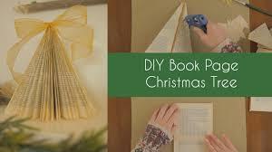 Christmas Tree Books Diy by Diy Book Page Christmas Tree Youtube