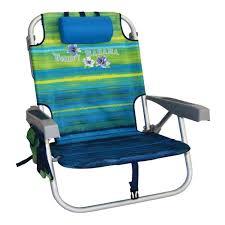 Tommy Bahama Folding Beach Chair - Green Stripes