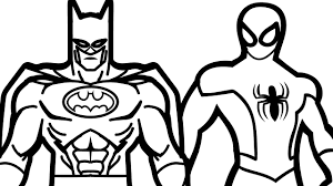 Spiderman And Batman Coloring Book Pages Kids Fun Art Throughout Page