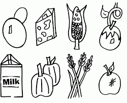 Grown Healthy Food Coloring Pages Food Coloring Pages Coloring