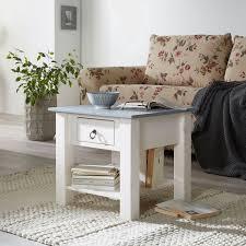 maison belfort couchtisch valmer i massivholz kiefer grau weiß landhaus