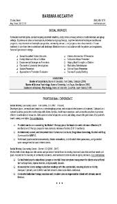 Social Work Resume Example Cover Letter Examples