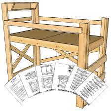 twin size loft bed plans medium height op loftbed