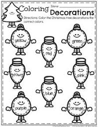 Printable Christmas Worksheets For Preschoolers