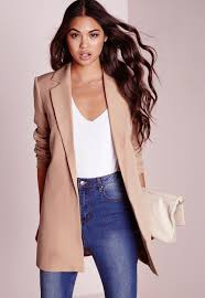 longline blazer long women u0027s blazers missguided