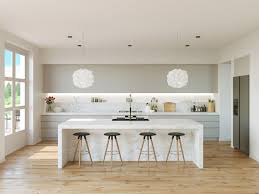 Colorful Kitchens Classic White Kitchen Design With Wood Floors And Cabinets