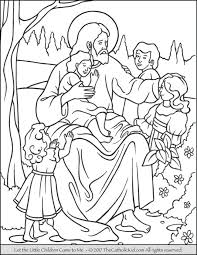Jesus Let The Little Children Come To Me Coloring Page