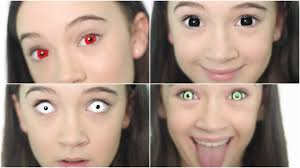 Halloween Colored Contacts Non Prescription Cheap by 5 Crazy Creepy Color Contacts Color Contact Lookbook Fiona