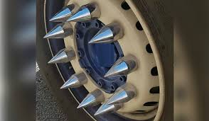 Gardai Issue Warning After Stopping 'dangerously Modified Truck' In ... Amazoncom 22017 Ram 1500 Black Oem Factory Style Lug Cartruck Wheel Nuts Stock Photo 5718285 Shutterstock Spike Lug Nut Covers Rollin Pinterest Gm Trucks Steel Wheels Spiked On The Trucknot My Truck Youtube Filetruck In Mirror With Wheel Extended Nutsjpg Covers Dodge Diesel Resource Forums 32 Chrome Spiked Truck Lug Nuts 14x15 Key Ford Chevy Hummer Dually Semi Truck Steel Nuts Billet Alinum 33mm Cap Caterpillar 793 Haul Kelly Michals Flickr Roadpro Rp33ss10 Polished Stainless Flanged Semi Spike Nut Legal Chrome Ever Wonder What Those Spiked Do To A Car